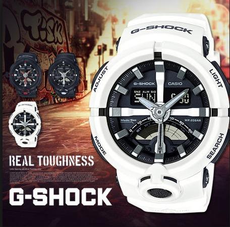 e2d0557fa3d Relogio Casio G-shock Ga-500-7 Branco Original Lançamento ! - R  598 ...