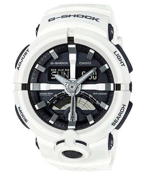 296a45b3031 Relógio Casio G-shock Ga-500-7adr Branco Lançamento Ga500 - R ...