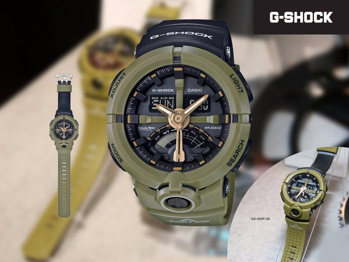 88d01e51698 Relogio Casio G-shock Ga-500p-3 Verde Ga-100 Ga-400 Ga-110 - R  618 ...