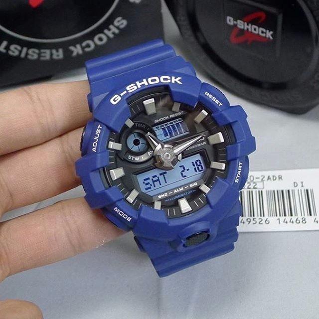 84e7436705f Relógio Casio G-shock Ga-700-2a Azul Lançamento Ga700 - R  428