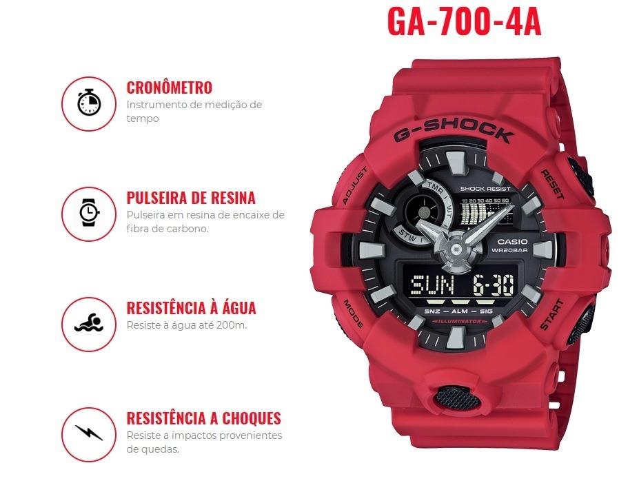 aa3c8f84d74 Relógio Casio G-shock Ga-700-4adr Original Pronta Entrega - R  699 ...