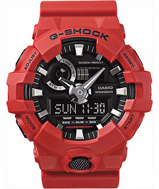 25a382b485b Relogio Casio G-shock Ga-700-4adr Vermelho Original Ga700 - R  419 ...