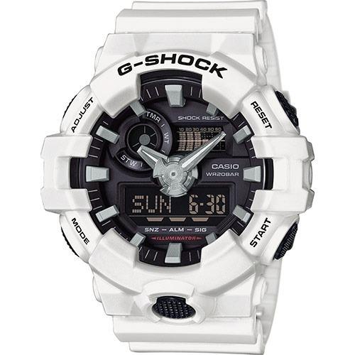8d4de2a0c46 Relógio Casio G-shock Ga-700-7a Branco Lançamento Ga700 - R  474