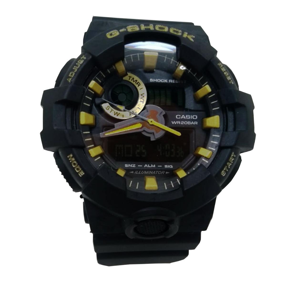 e7e7fa07403 relógio casio g-shock ga-700 importado ga-700-7 preto ! Carregando zoom.