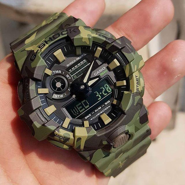 ce9904aeb0f Relógio Casio G-shock Ga 700cm 3a Camuflado Lançamento - R  550