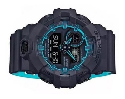 relógio casio g-shock ga-700se 1a2 original azul chumbo