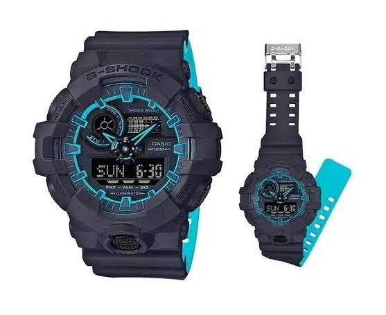 3a4ecfb6743 Relógio Casio G-shock Ga-700se 1a2 Original Azul Chumbo - R  999
