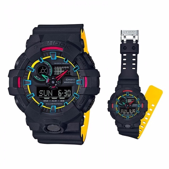 5deb5b49aad Relógio Casio G-shock Ga-700se-1a9 Lançamento Ga700 Amarelo - R  444 ...