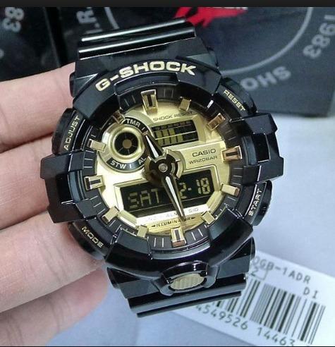68abf3bc603 Relogio Casio G-shock Ga-710gb-1 Ga-710 Ga-700 Lançamento !! - R ...