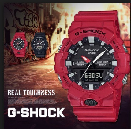 2fcf9dd64ac Relogio Casio G-shock Ga-800-1a Ga800 Lançamento Vermelho - R  438 ...