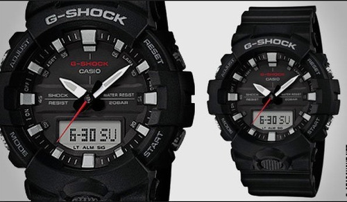 relogio casio g-shock ga-800-1a pret ga800 analógico-digital