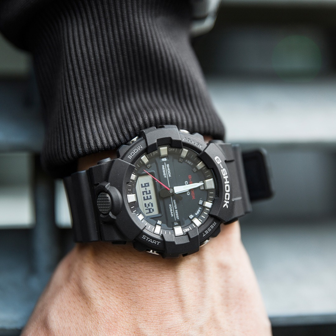 56a5b1f9ea4 relógio casio g-shock ga-800 1a preto 12x s juros ga 800. Carregando zoom.