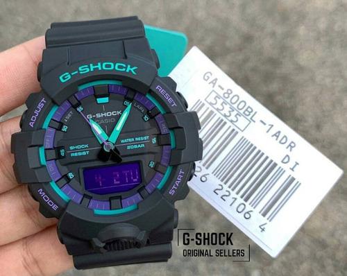 relogio casio g-shock ga-800bl-1a caixa menor ga800 em 12x