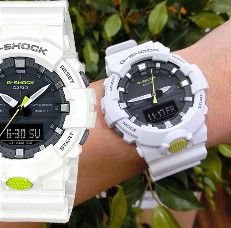 d506b0ec4c0 Relogio Casio G-shock Ga-800sc-7 Branco Ana- Digital Ga-700 - R  448 ...