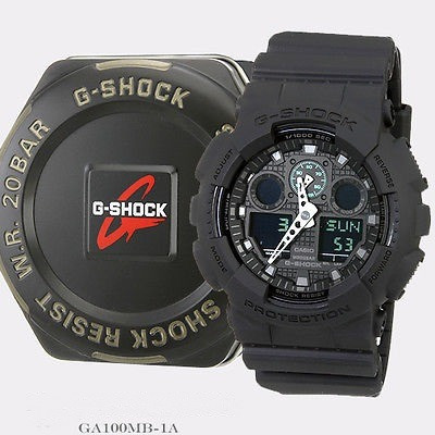 relogio casio g-shock ga100  ga 100 wr200 preto original