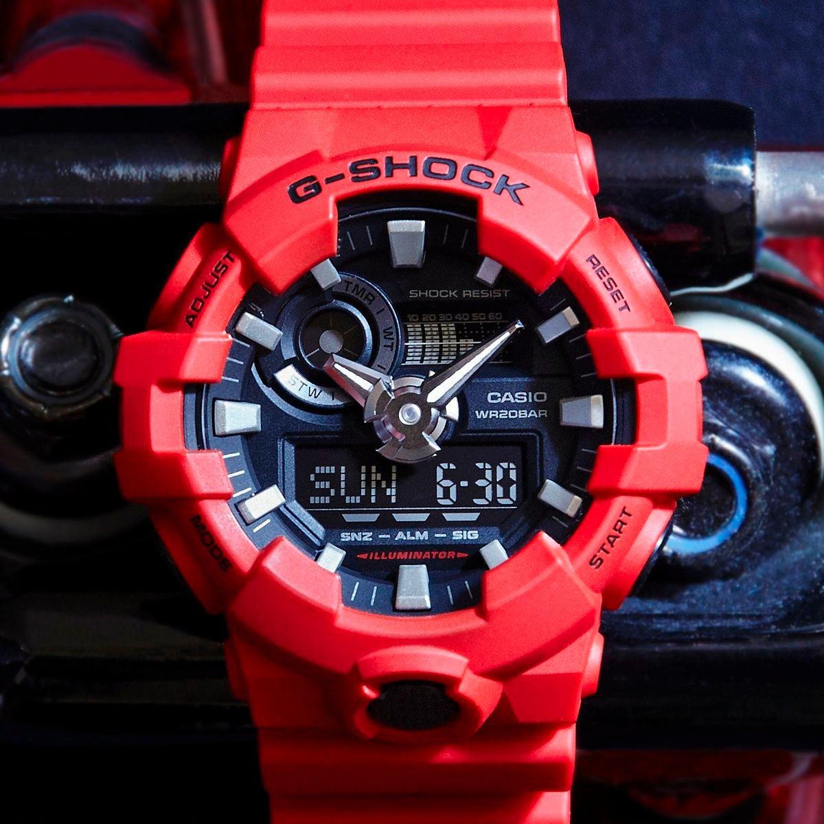 d14ddcdd5c6 relógio casio g-shock ga100 ga-700 ga 700 verm. lançamento. Carregando zoom.