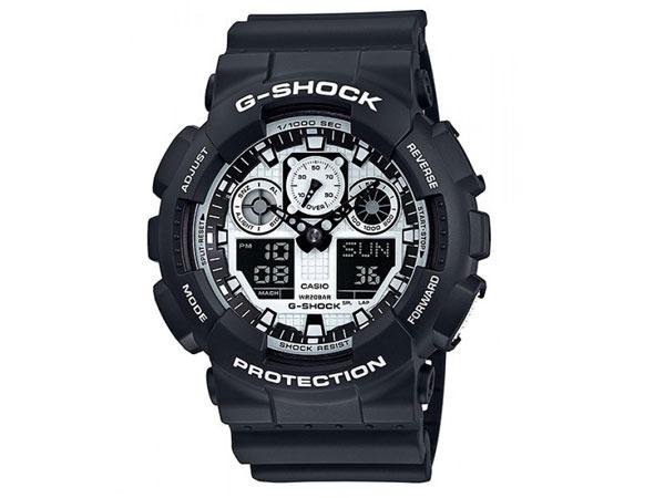 cfa3eaee2ec Relógio Casio G-shock Ga100bw-1a Preto branco Original Novo - R  399 ...