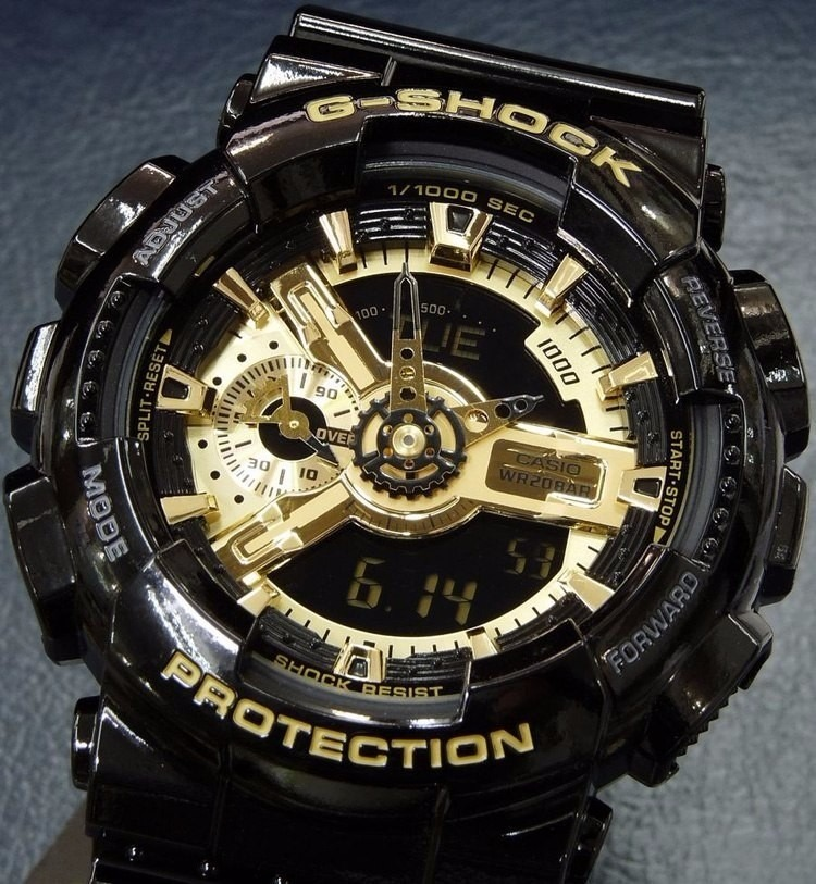 774d83c9236 relógio casio g-shock ga110gb 1a preto dourado novo original. Carregando  zoom.