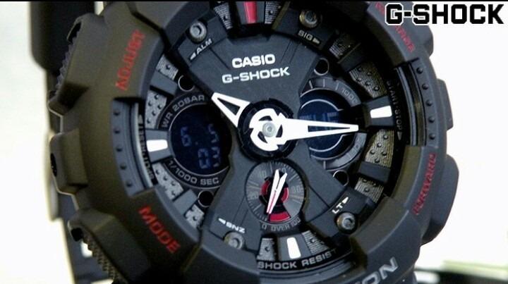 a0bc0c74f75 Relogio Casio G-shock Ga120 Black Ga-120 100% Original - R  649