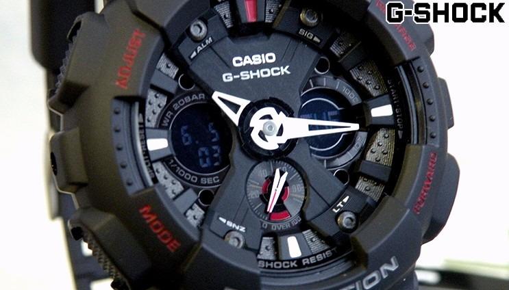 408d340c953 Relogio Casio G-shock Ga120 Ga-120-1adr - Original 5 Alarmes - R ...