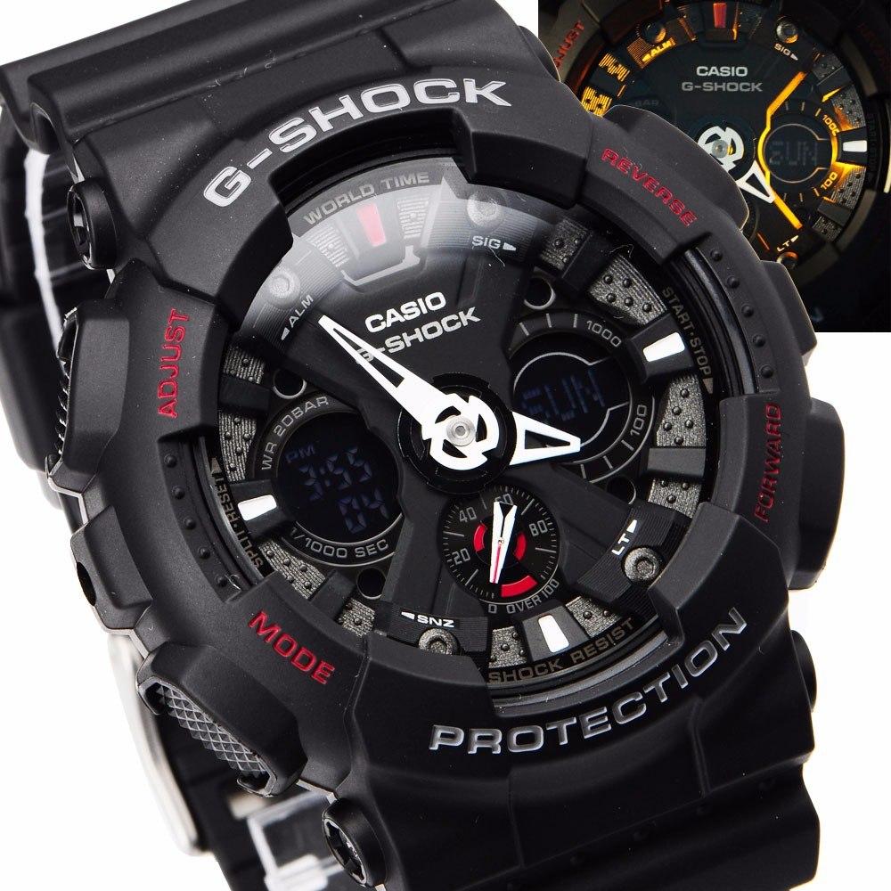 018f44d4ac0 Relogio Casio G-shock Ga120 Ga-120-1adr - Original 5 Alarmes - R ...
