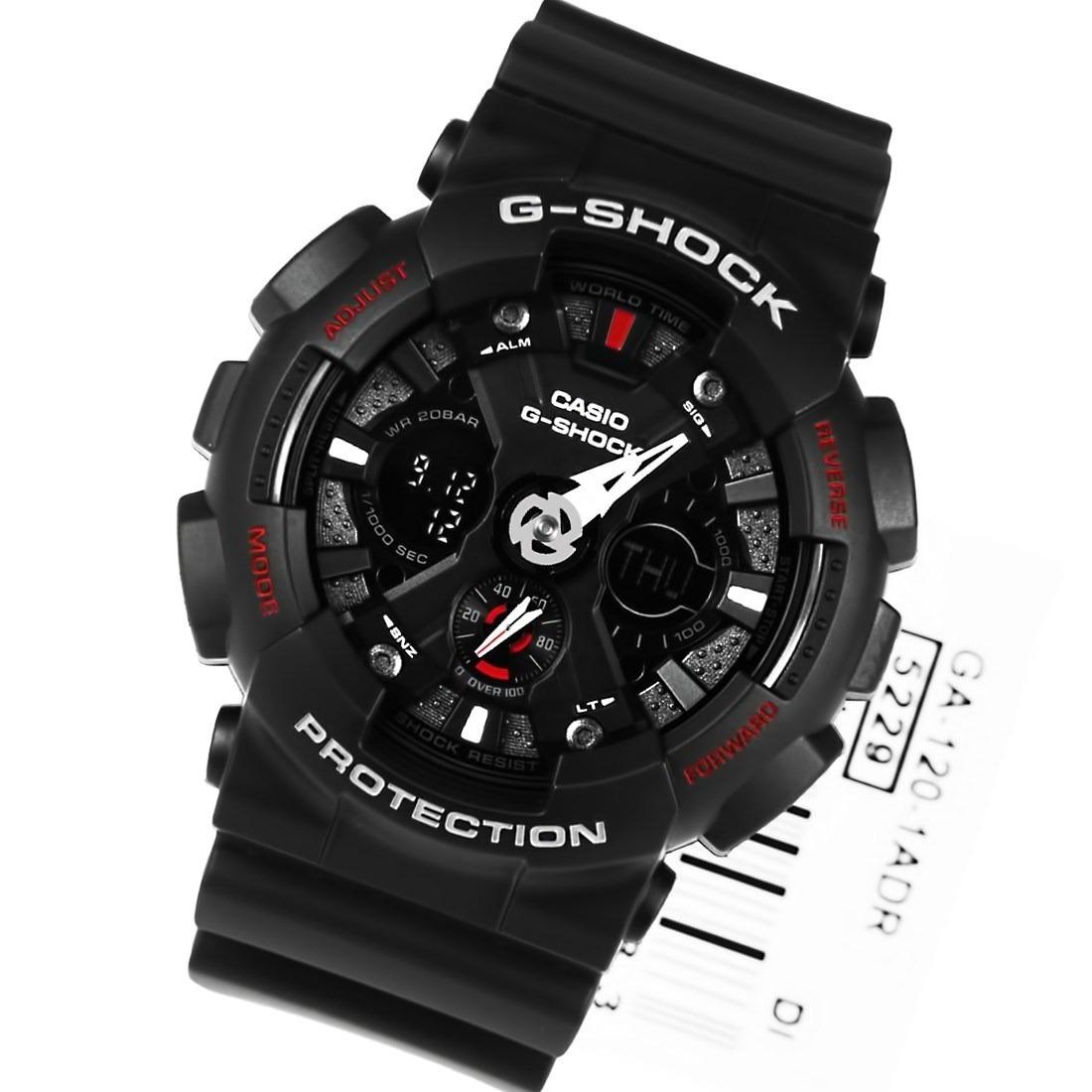 940b18fba4a relogio casio g-shock ga120 ga-120-1adr - original 5 alarmes. Carregando  zoom.