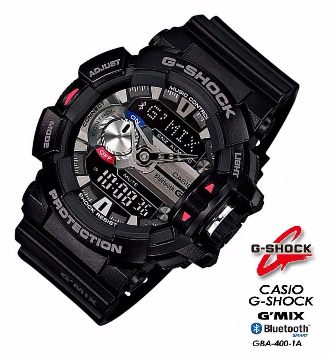 f44c500494a Relogio Casio G-shock Gba-400 1adr Bluetooth G Mix Wr-200m P - R ...