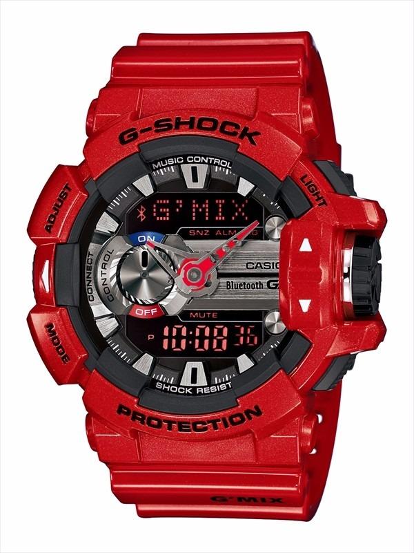 Relógio CASIO G-SHOCK masculino vermelho GA-201RD-4ADR