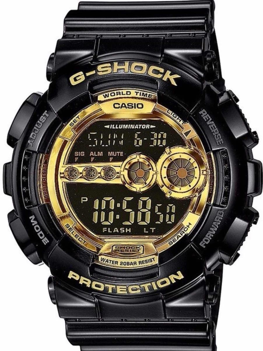 db1ef8a9d14 relogio casio g shock gd-100-1adr preto dourado-promoção. Carregando zoom.