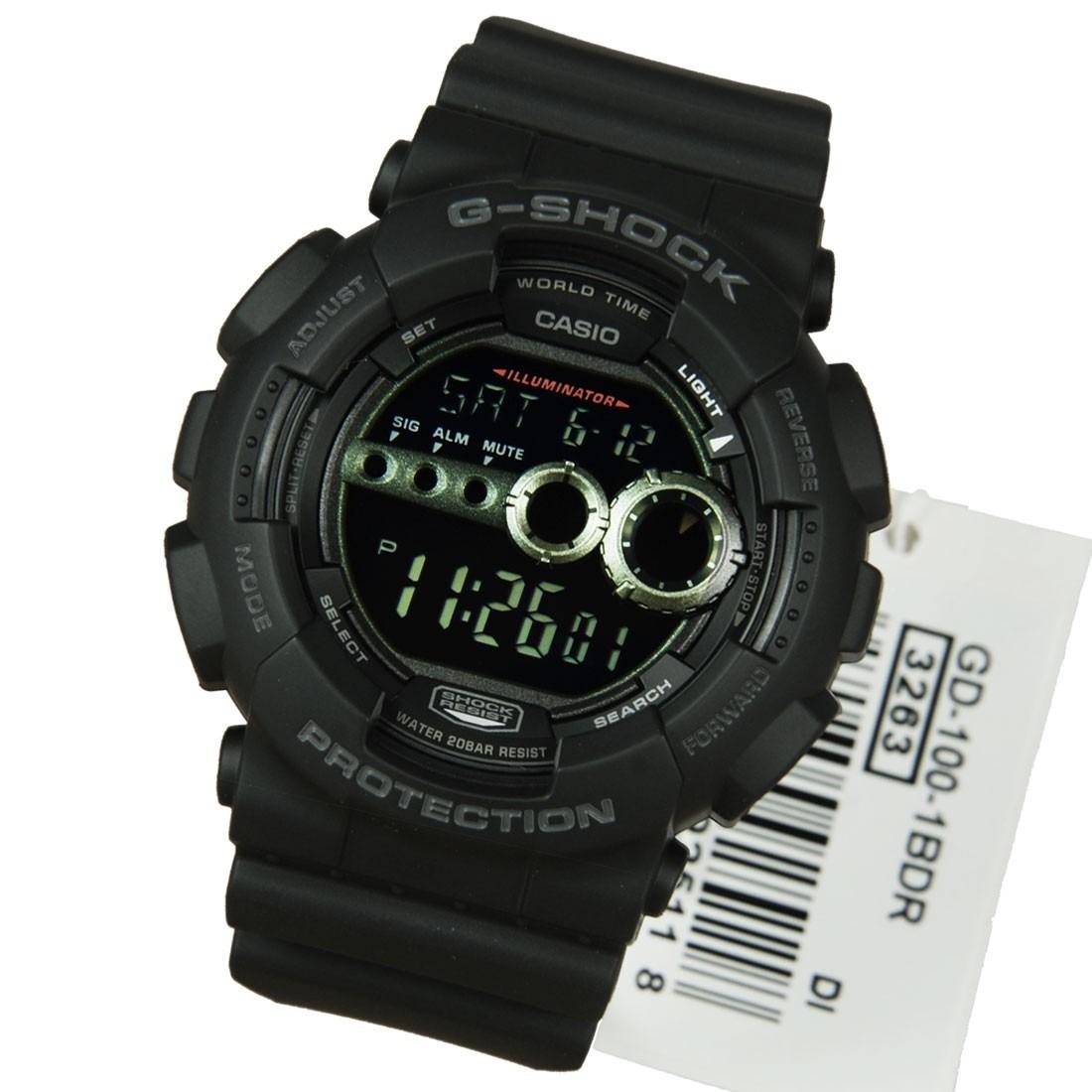 b44084467a9 relogio casio g-shock gd-100-1b fundo negativo gd100. Carregando zoom.