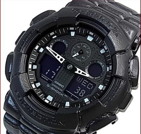 23e9e22845e Relogio Casio G-shock Gd-100bt-1 Textura E A Sensação Couro - R  488 ...