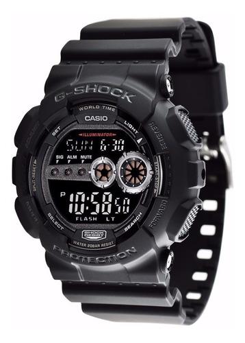 relogio casio g-shock gd-100gb-1dr digital preto original