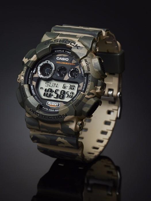 05a05c2122f Relógio Casio G-shock Gd-120 Cm-5 5 Alarmes Camuflado 200mt - R  599 ...