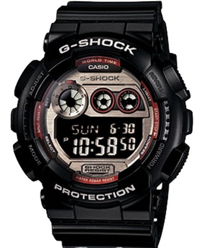 relógio casio g-shock gd-120 ts-1 5 alarmes h.mundial 200m p