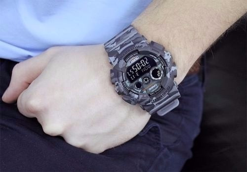 84f253671be Relógio Casio G-shock Gd-120cm-8dr Camuflado Original - R  476