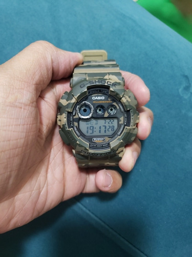 relógio casio g-shock gd-120cm camuflado