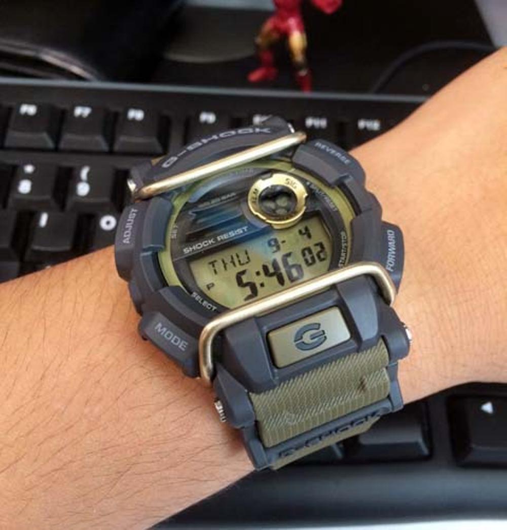 116bfad14bd relogio casio g-shock gd-400-9dr verde gd-400. Carregando zoom.