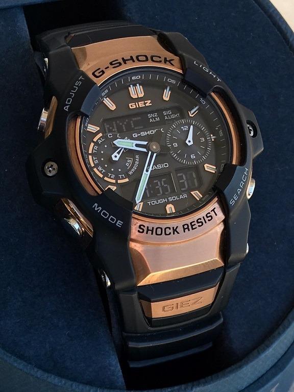 dc183c085e5 Relógio Casio G Shock Giez Gs1050b Tough Solar Raro - R  1.370 ...