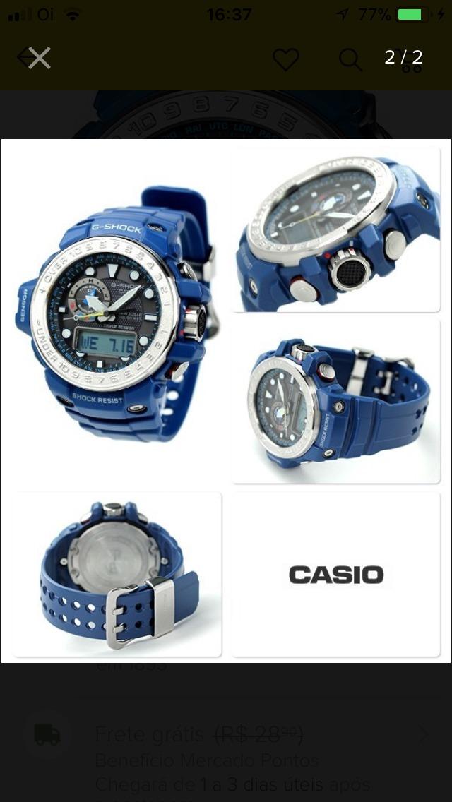 efc53f98fa5 relógio casio g shock gufmaster gwn 1000 2a. Carregando zoom.
