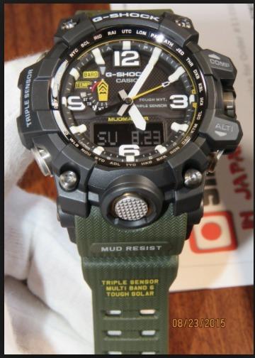 a9f32dad04b Relogio Casio G-shock Gwg-1000-1a3 Verde Mudmaster Gg-1000 - R ...