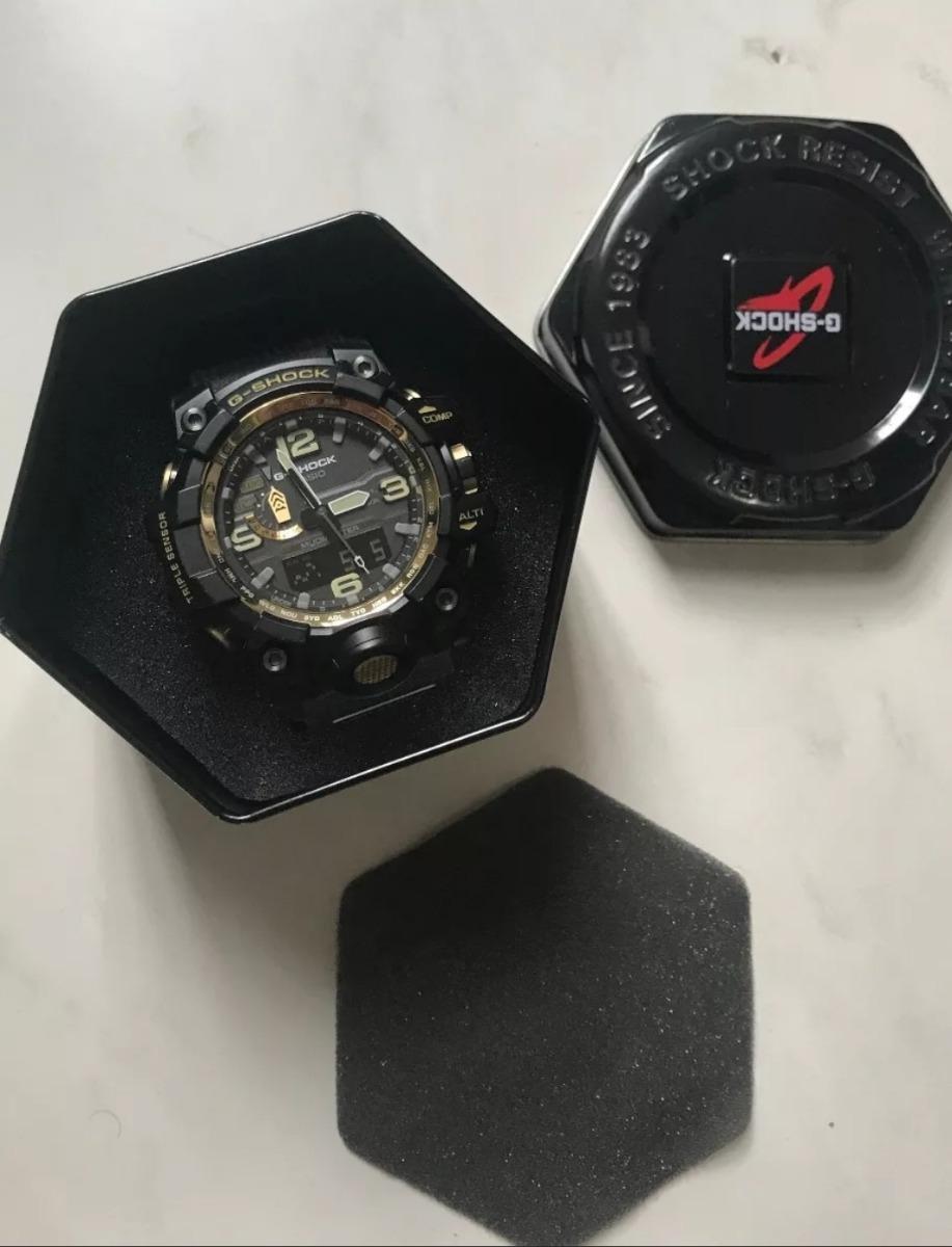 d0d8276c2d7 relógio casio g-shock gwg-1000gb-1a dourado mudmaster solar. Carregando  zoom.