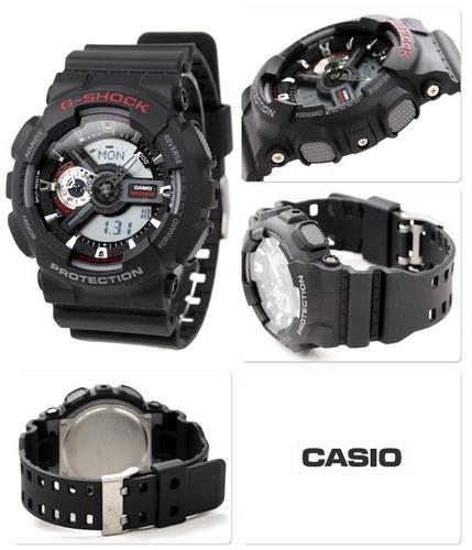 relógio casio g-shock masculino anadigi ga-110-1adr