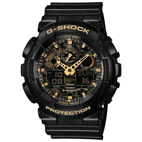 relógio casio g-shock masculino anadigi preto ga100cf1a9dru