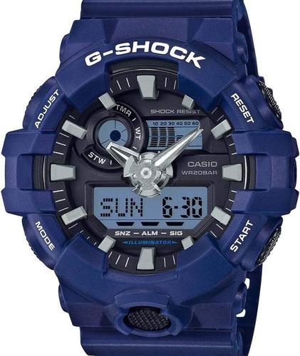 relógio casio g-shock masculino azul -  ga-700-2adr