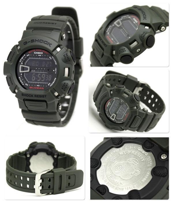 dd5862a12be Relógio Casio G-shock Mudman G9000-3v Verde Novo E Original - R  439 ...