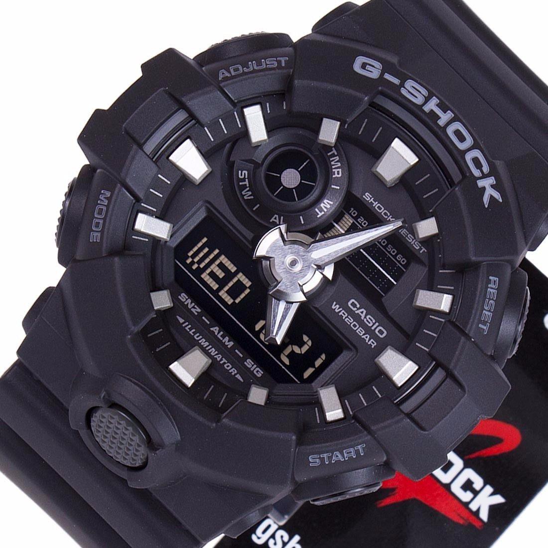 4003382dede Relogio Casio G-shock Pretodetalhes Cinza Ga-700-1bdr - R  649