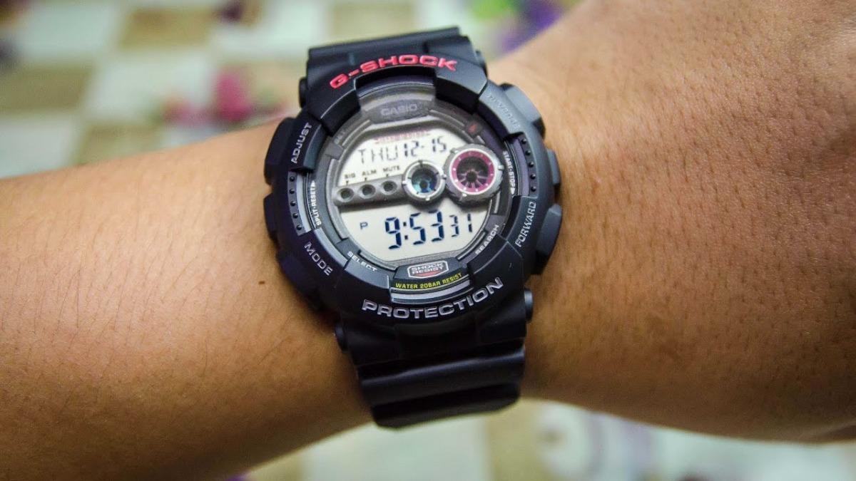 111d1b84abf relógio casio g shock protection gd-100-1adr frete gratis nf. Carregando  zoom.