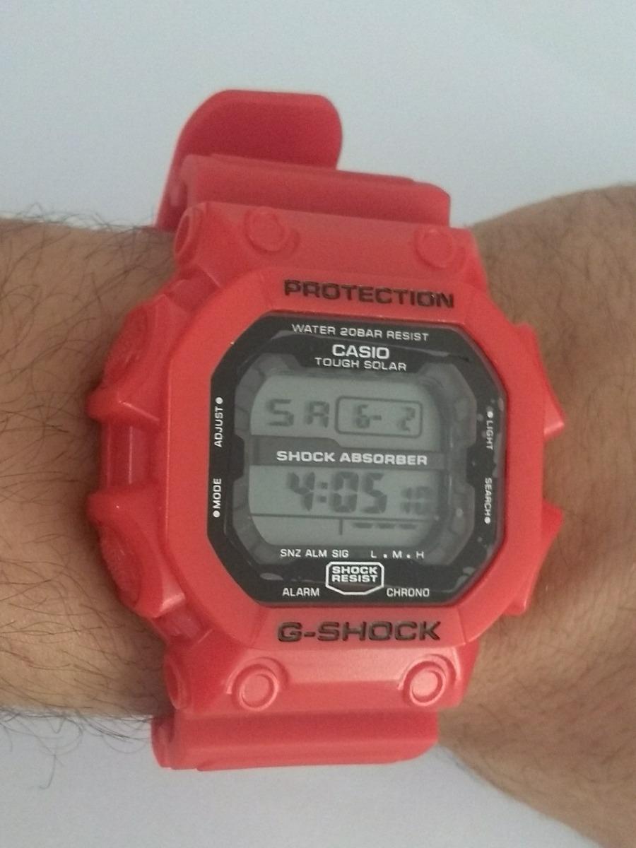 0cb54028fa8 relógio casio g shock quadrado vermelho prova d agua +caixa. Carregando  zoom.