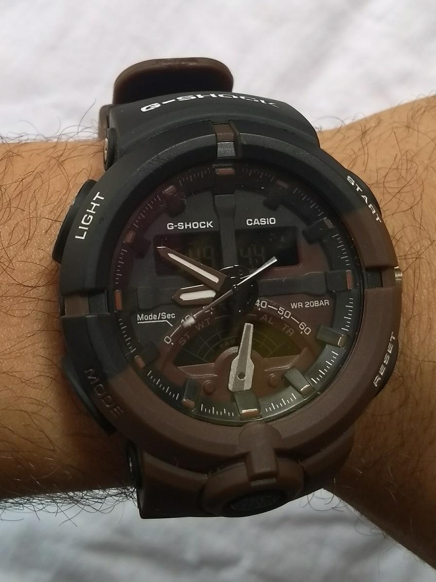 56c958f0035 relógio casio g shock redondo preto marrom à prova d água. Carregando zoom.