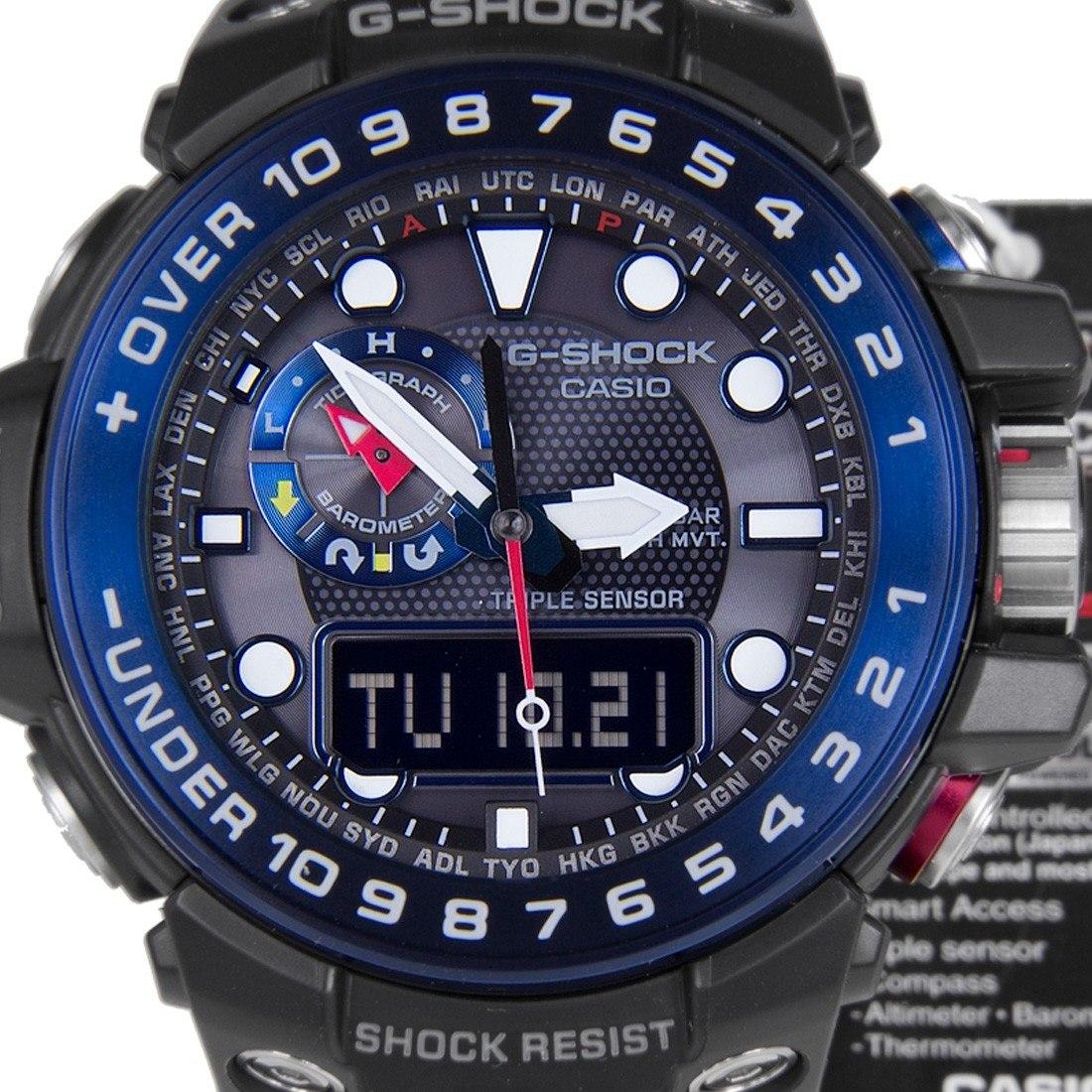 2088c6b0b75 Relógio Casio G-shock Triple Sensor Gwn1000b-1bc - R  2.800